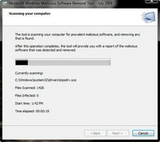Microsoft Malicious Software Removal Tool screenshot 2