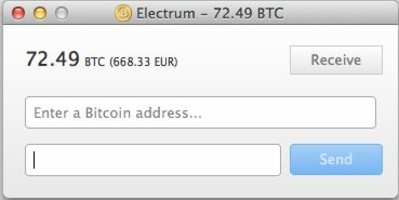 Electrum screenshot 3