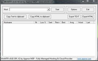 WinMTR screenshot 2