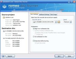 Romeo Burner screenshot 2